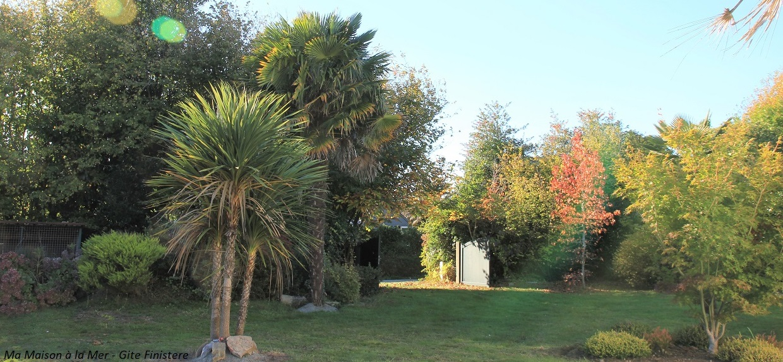 Jardin Automne Location Fouesnant -acc